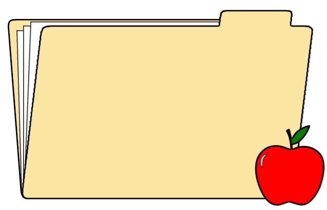 File Folder with Apple